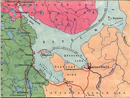 Соловецкие острова на карте